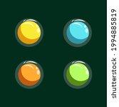 vector set button for website...