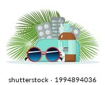 first aid kit on the background ...   Shutterstock .eps vector #1994894036