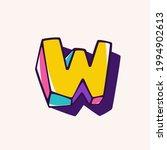 letter w logo in cubic children ... | Shutterstock .eps vector #1994902613