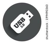 usb 3.0 stick sign icon. usb...