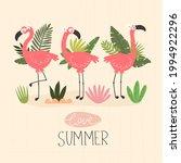 love summer. cartoon flamingo ...   Shutterstock .eps vector #1994922296