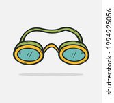 hand drawn swimming goggle icon ...   Shutterstock .eps vector #1994925056