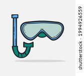 hand drawn mask and snorkel for ...   Shutterstock .eps vector #1994926559