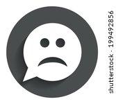 Sad Face Sign Icon. Sadness...