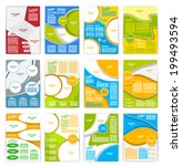 set of flyer  brochure or... | Shutterstock .eps vector #199493594