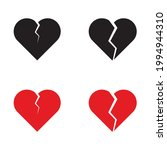 broken heart icon for apps and...   Shutterstock .eps vector #1994944310