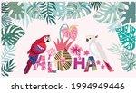 tropical flowers background....   Shutterstock .eps vector #1994949446