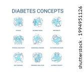 diabetes concept icons set.... | Shutterstock .eps vector #1994951126