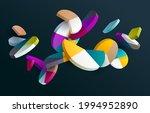 3d multicolored decorative... | Shutterstock .eps vector #1994952890