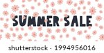 summer sale banner with flowers ...   Shutterstock .eps vector #1994956016