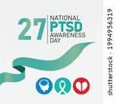 national ptsd awareness day ...   Shutterstock .eps vector #1994956319