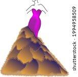 beautiful model dress in...   Shutterstock .eps vector #1994958509