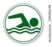 swim vector icon   Shutterstock .eps vector #199496198