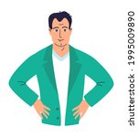 portrait of young male doctor ... | Shutterstock .eps vector #1995009890