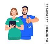 healthcare professionals banner ... | Shutterstock .eps vector #1995009896