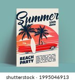 summer beach party poster or... | Shutterstock .eps vector #1995046913