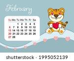 wall calendar template for... | Shutterstock .eps vector #1995052139