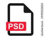 file psd flat icon isolated on...