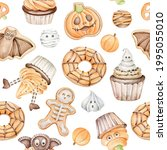 Halloween Sweets Seamless...