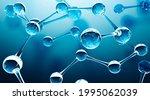 abstract water molecules design....   Shutterstock . vector #1995062039