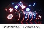 casino neon background with...   Shutterstock . vector #1995065723