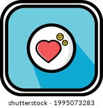 a vector of sweet and smile... | Shutterstock .eps vector #1995073283