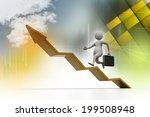 business man aim to business ... | Shutterstock . vector #199508948