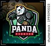 panda fighter mascot. esport...   Shutterstock .eps vector #1995090023