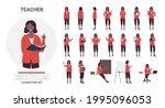 african american black teacher... | Shutterstock .eps vector #1995096053
