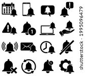 bell icon for incoming inbox...   Shutterstock .eps vector #1995096479