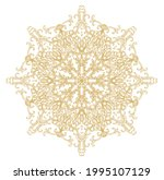 ornamental golden laced vector... | Shutterstock .eps vector #1995107129