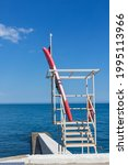 Rescue Tower And Boat On The...