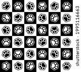 pet prints. paw seamless...   Shutterstock .eps vector #1995116663