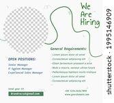 job vacancy or hiring web...