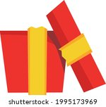 cute flat design cardboard red... | Shutterstock .eps vector #1995173969