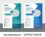 modern medical flyer template...   Shutterstock .eps vector #1995174659