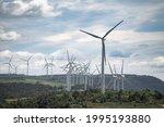 Windmill Farm In Catalan Hills  ...