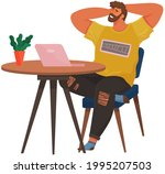 happy man chilling on his...   Shutterstock .eps vector #1995207503