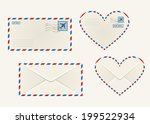 set of different airmail... | Shutterstock .eps vector #199522934