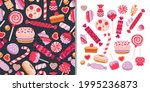 sweets candies set with... | Shutterstock .eps vector #1995236873