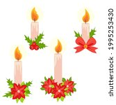christmas candle illustration.... | Shutterstock .eps vector #1995253430