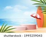 summer background 3d product...   Shutterstock .eps vector #1995259043