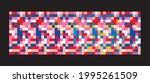 Fabric Colorful Mosaic Pattern...