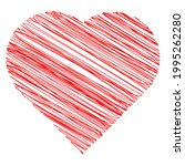 hearth shape with scribble ... | Shutterstock .eps vector #1995262280