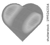 hearth shape with scribble ... | Shutterstock .eps vector #1995262316