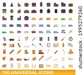 100 universal icons set.... | Shutterstock .eps vector #1995279260