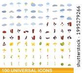 100 universal icons set.... | Shutterstock .eps vector #1995279266