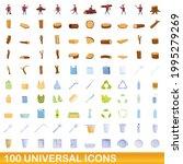 100 universal icons set.... | Shutterstock .eps vector #1995279269