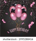 lovely pink glitter balloons... | Shutterstock .eps vector #1995288416