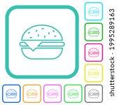 single cheeseburger vivid... | Shutterstock .eps vector #1995289163
